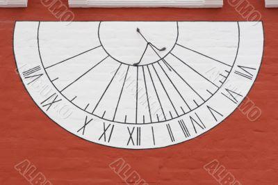Sun-dial on wall