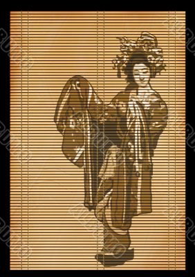 Background - an ancient Japanese reed mat