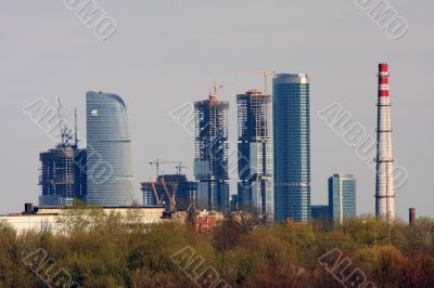 Business centre `Moscow-city`