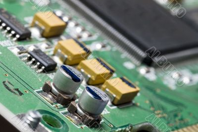 electronic components of a computer.