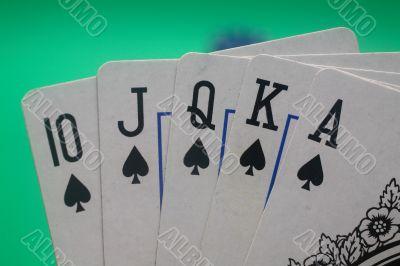 Poker Hand - Spades Straight Flush