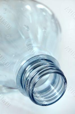 Plastic blue botlle