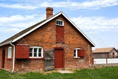 Red brick barn