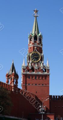 Spasskaya Tower Top at the Red Square, Moscow