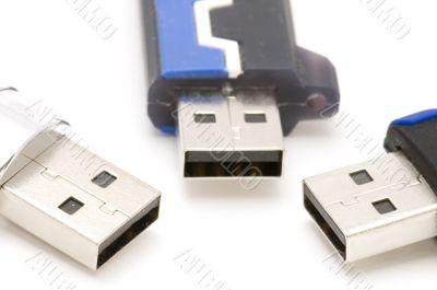 USB Flash memory close up