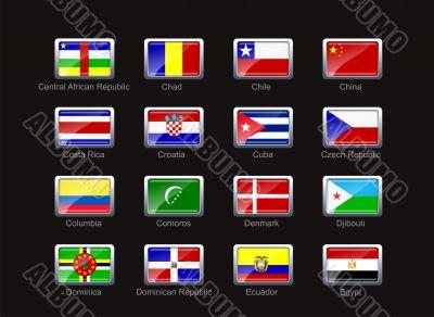 Flag icon set  - part 3