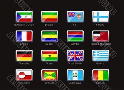Flag icon set  - part 4