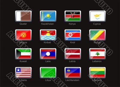 Flag icon set  - part 6