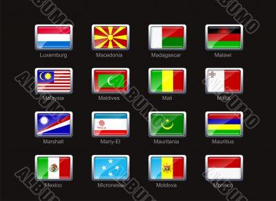 Flag icon set  - part 7