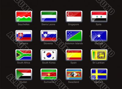 Flag icon set  - part 10