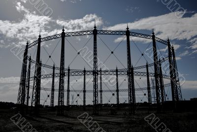 Bleak Industrial Scene
