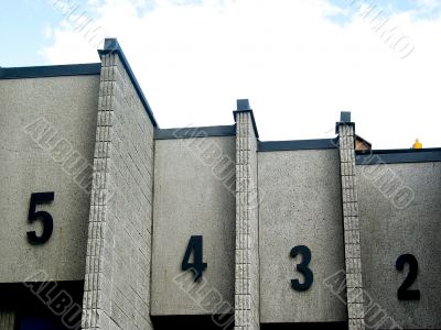 Doorways with Numbers at Community College