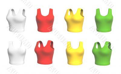 Background - multi-coloured female 3d shirts