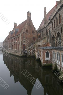 Old Houses On A Channel In Brugge