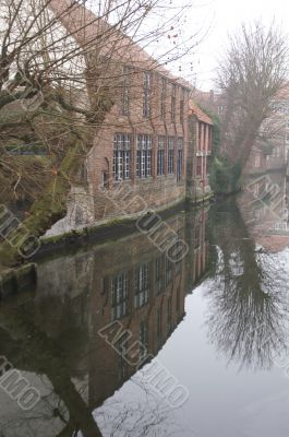 Old Houses On A Chanal In Brugge