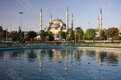 Blue Mosque Reflection