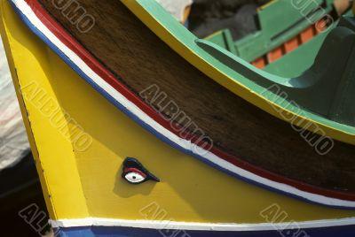 Yellow sailing boat