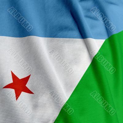 Djibouti Flag Closeup