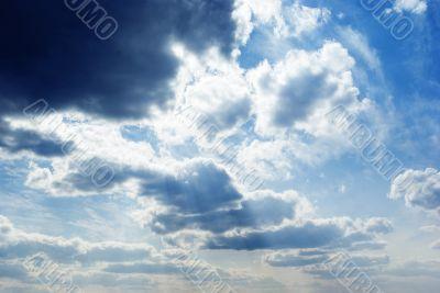cloudscape. majestic sky