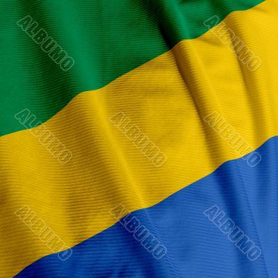 Gabonese Flag Closeup