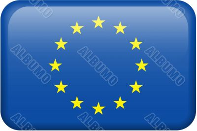 European Union Flag Button
