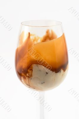 ice cream in a tall glass