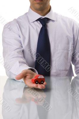 businessman selling a car