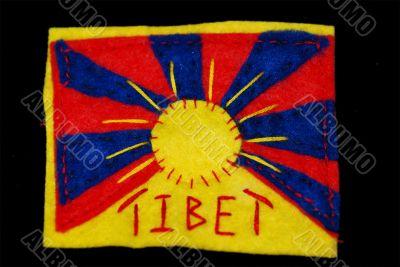 Hand-Embroidered Tibetan Flag