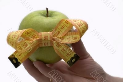 Symbol of diet and healthy eating.