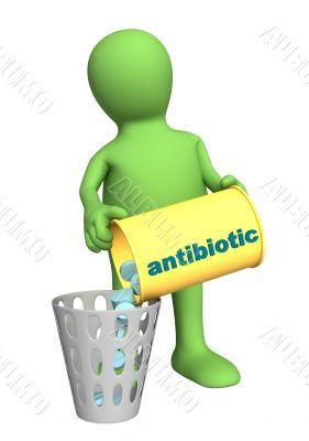 Conceptual image - refusal of use antibiotics