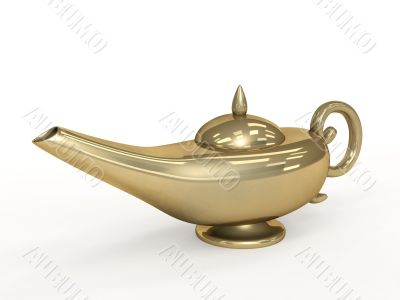Symbol performance of desires - 3d magic lamp