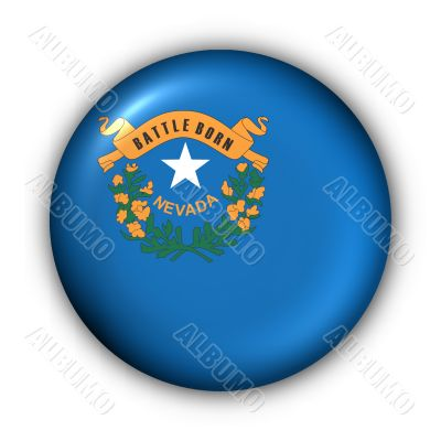 Round Button USA State Flag of Nevada