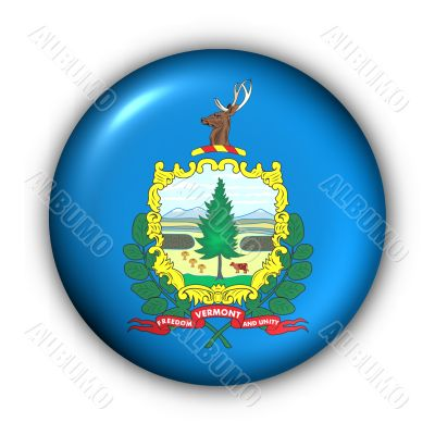 Round Button USA State Flag of Vermont