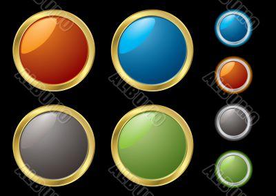 metal rim buttons