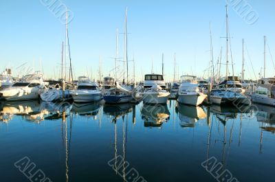 Marina Boats At Daybreak