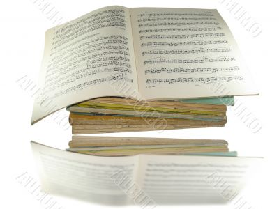 Close-up musical notes books