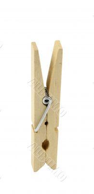 Wooden cloth peg
