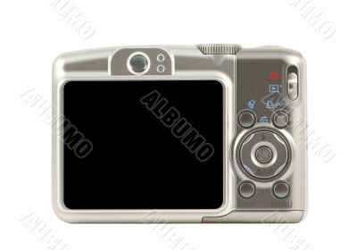 Digital compact camera back side