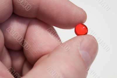 Fingers,red pill
