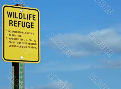 Wildlife refuge sign