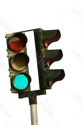 Isolated Traffic Light