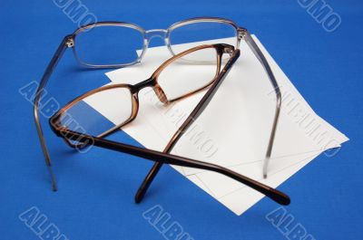 reading glasses and notebook