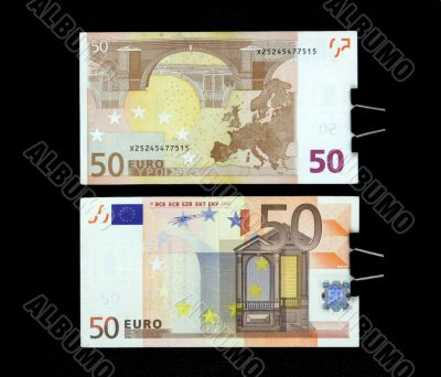 a note is fifty euros