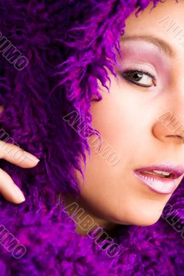 Purple and glamour