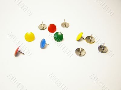 Coloured Buttons On A White Backround
