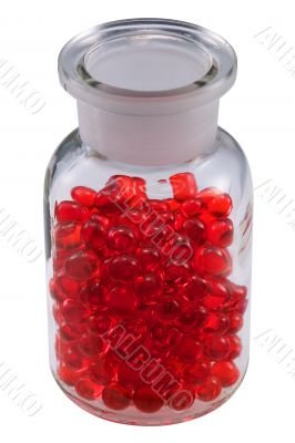 Pills in a vial