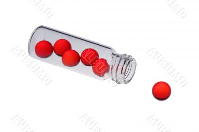 Pills and a vial