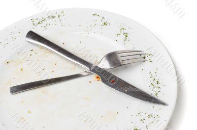 unwashed kitchen utensil