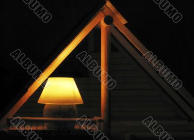 candle shines the house
