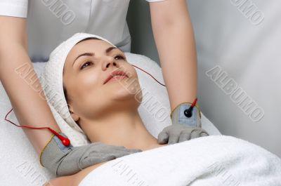 beauty salon series. electric massage